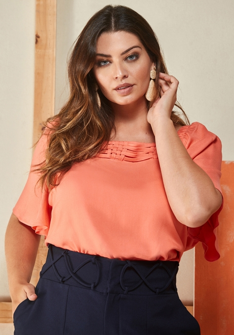 Blusa Decote Quadrado - My Size