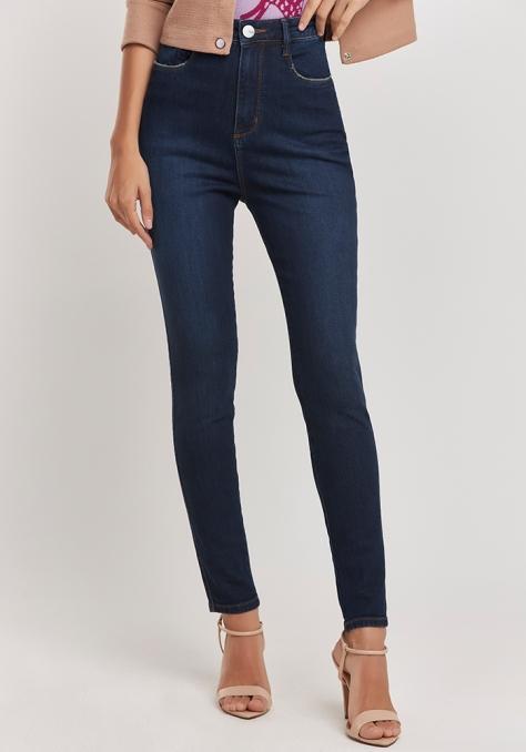 Calça Jeans Pesponto Ocre
