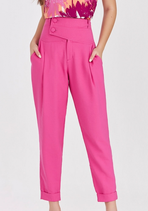 Calça Alfaiataria Pala c/ Pregas - Pink