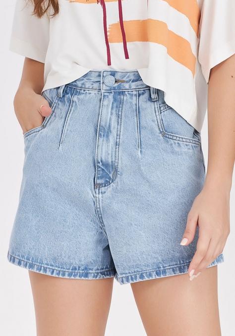 Short Cintura Alta - Jeans