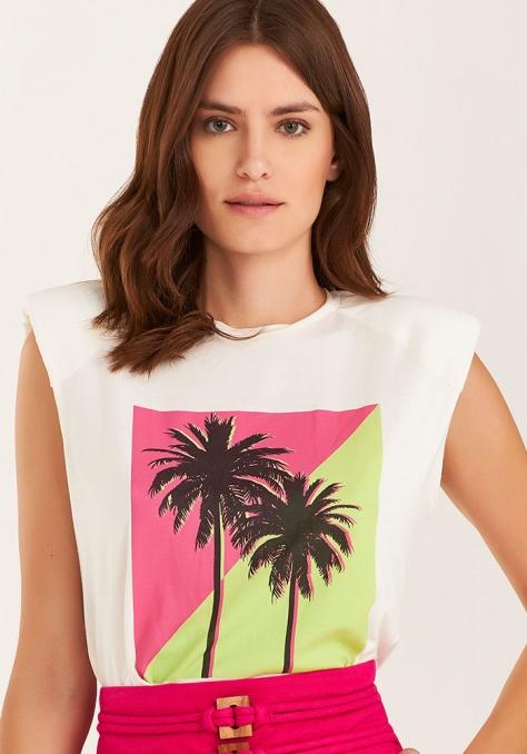 T-Shirt Muscle Tee c/ Silk - Off White